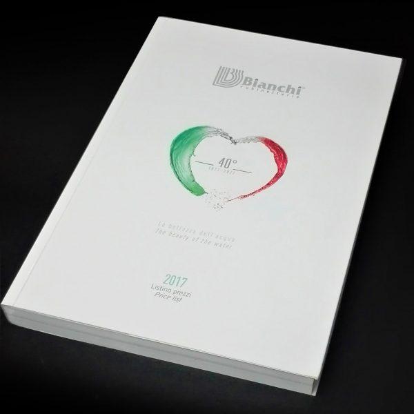 Catalogo 592 pagine copertina con patelle, brossura cucita, 500 pcs