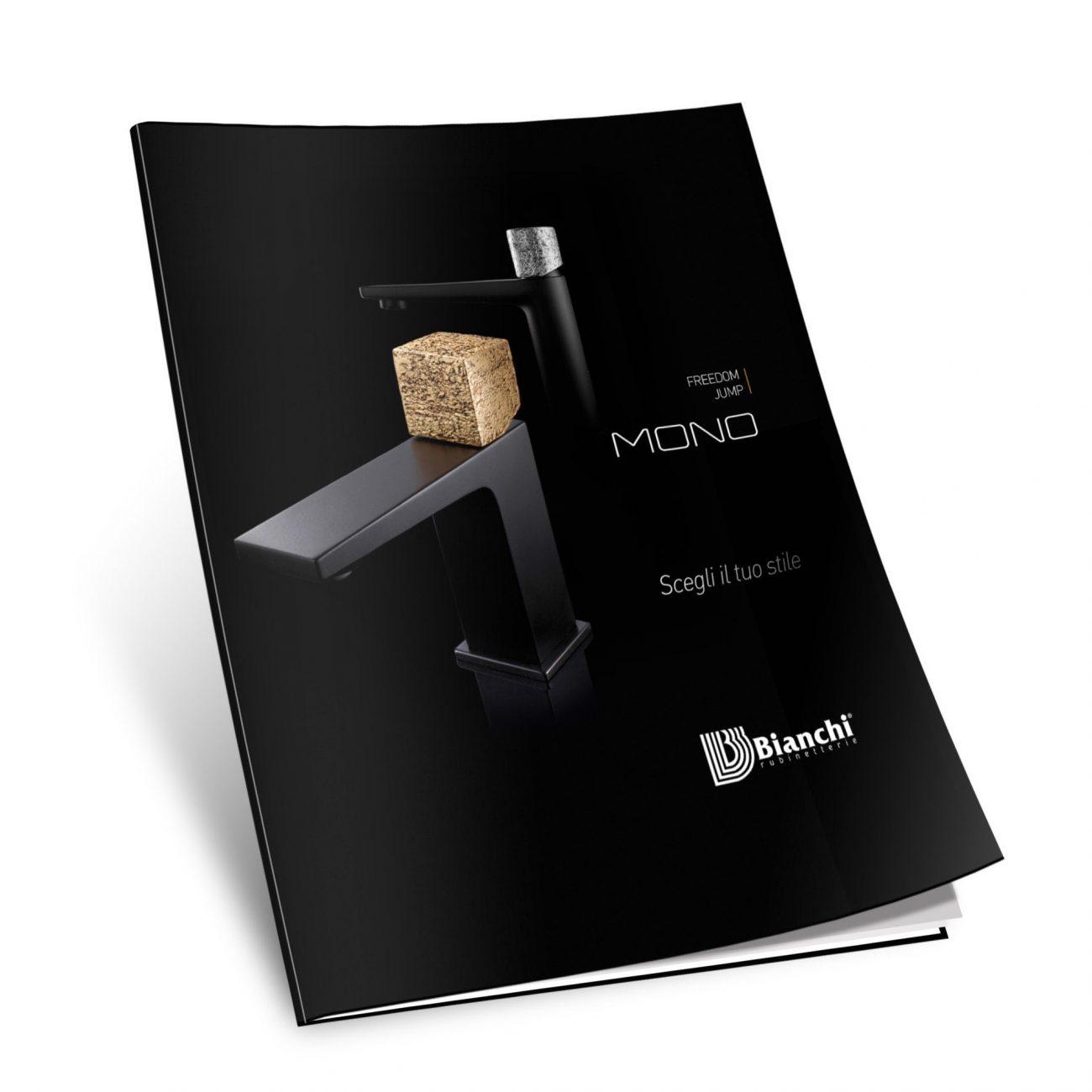 Creatività brochure completa (shooting prodotti, concept, ritocchi cromatici e scontorni immagini, prove cromatiche ed esecutivi)